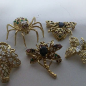 Spiders, Flower Basket, Dragon Fly, Bee, Butterfly